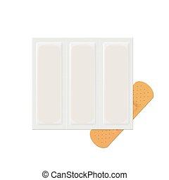Vector Bandage Plaster Aid Band Medical Adhesive