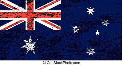 vector, bandera, australia, grunge, plano de fondo