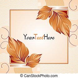vector, bandera, con, leafs