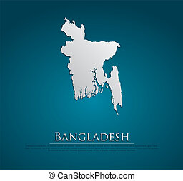 vector Bangladesh Map card paper