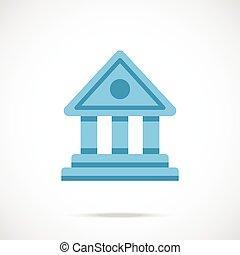 Vector bank icon. Bank building