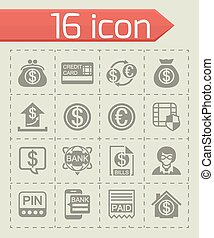 Vector Bank icon set