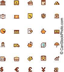 Vector banking icon set