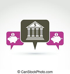 Vector banking symbol, financial