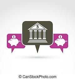 Vector banking symbol, financial
