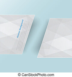 Vector banner background. White line paper origami