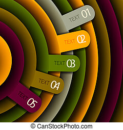 Vector banner - numbered information on the Vector...
