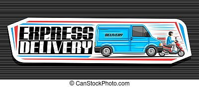 Vector banner for Express Delivery