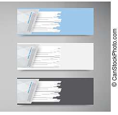 Vector banner set . Colorful line. Strips