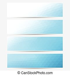 Vector banner set. Does not contains gradient of ...