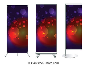 Vector banner stand display - Set of banner stand display...