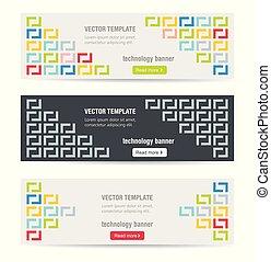 Vector banner template