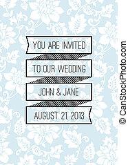 Vector Banner Wedding Background