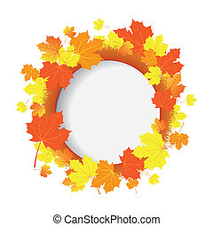 Vector banner with autumn leaves