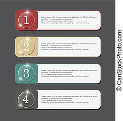 vector banner with button color four step