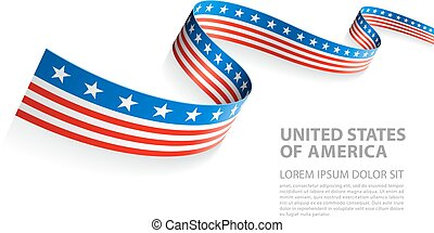 Vector Banner with USA Flag colors - Vector Illustration...