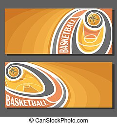 Vector banners for Basketball