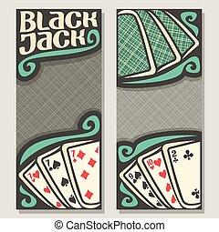 Vector banners for Blackjack