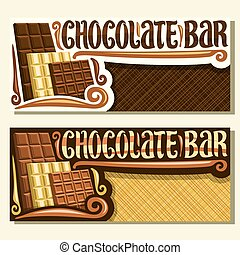 Vector banners for Chocolate Bar