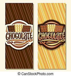 Vector banners for Chocolate