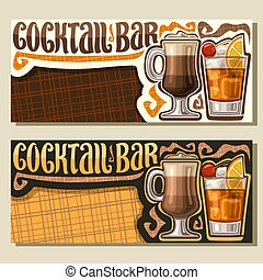 Vector banners for Cocktail Bar