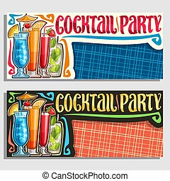 Vector banners for Cocktail Party