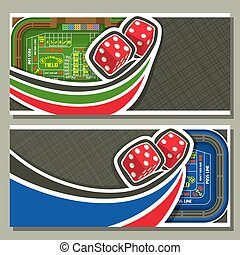 Vector banners for Craps gamble