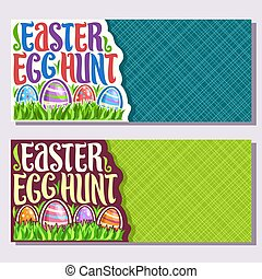 Vector banners for Easter holiday