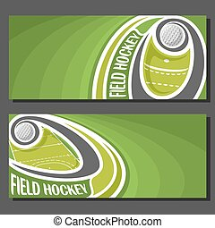 Vector banners for Field Hockey