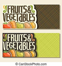 Vector banners for Fruits and Vegetables