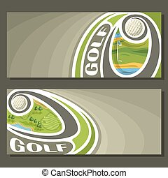 Vector banners for Golf