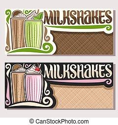 Vector banners for Milkshakes