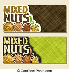 Vector banners for Nuts