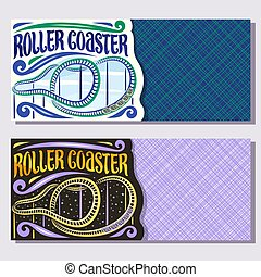 Vector banners for Roller Coaster