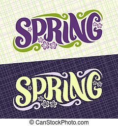 Vector banners for Spring season