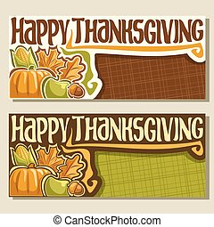 Vector banners for Thanksgiving day
