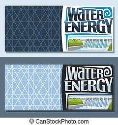 Vector banners for Water Energy