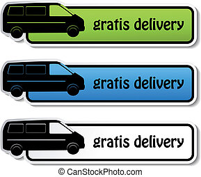 Vector banners - gratis delivery