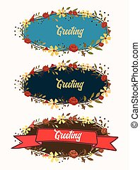 Vector Banners Made With Flowers