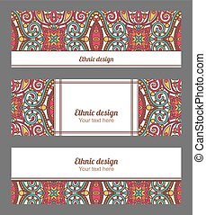 Vector banners set with orient mand