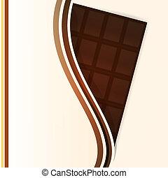 vector, bar, achtergrond, chocolade