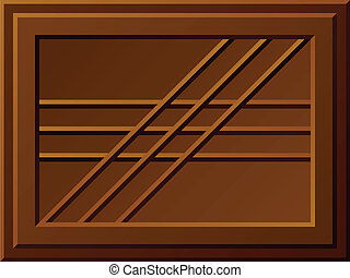 vector, bar, seamless, chocolade