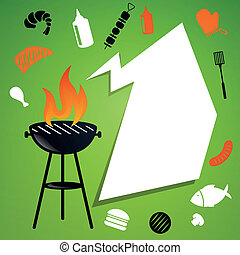 Vector Barbecue Background