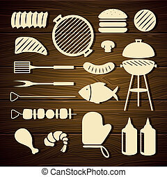Vector Barbecue Grill Icons
