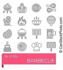 Vector Barbecue icon set