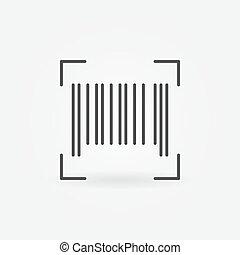 Vector barcode concept outline icon
