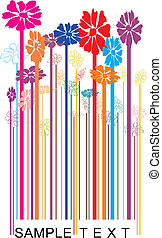 Vector barcode floral