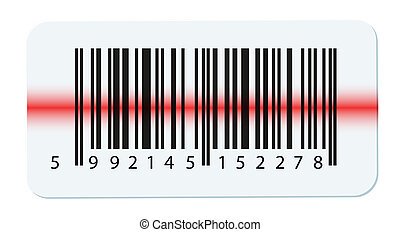 Vector barcode isolated on white