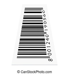 vector barcode on white background