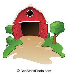 Vector Barn - Vector illustration of a barn